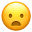 frowning face with open mouth Emoji on Apple, iOS