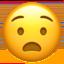 anguished face Emoji on Apple, iOS