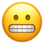 grimacing face Emoji on Apple, iOS