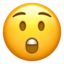 astonished face Emoji on Apple, iOS