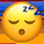 sleeping face Emoji on Apple, iOS
