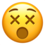dizzy face Emoji on Apple, iOS