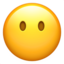 face without mouth Emoji on Apple, iOS