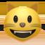 grinning cat Emoji on Apple, iOS