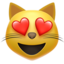 smiling cat with heart-eyes Emoji on Apple, iOS