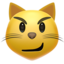 cat with wry smile Emoji on Apple, iOS