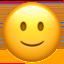 slightly smiling face Emoji on Apple, iOS