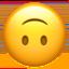 Emoji de cara boca abajo en Apple, iOS