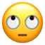 face with rolling eyes Emoji on Apple, iOS