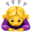 woman bowing Emoji on Apple, iOS