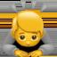 woman raising hand Emoji on Apple, iOS