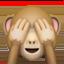 アップル、iOSの三猿絵文字