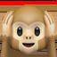 hear-no-evil monkey Emoji on Apple, iOS