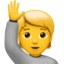 person raising hand Emoji on Apple, iOS