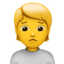 person frowning Emoji on Apple, iOS