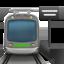 train Emoji on Apple, iOS