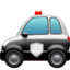 police car Emoji on Apple, iOS