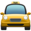 taxi Emoji on Apple, iOS