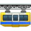 suspension railway Emoji on Apple, iOS