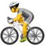 person biking Emoji on Apple, iOS