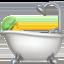 person taking bath Emoji on Apple, iOS