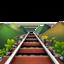 railway track Emoji on Apple, iOS
