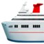 passenger ship Emoji on Apple, iOS