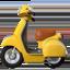 motor scooter Emoji on Apple, iOS
