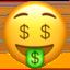 money-mouth face Emoji on Apple, iOS
