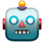 robot Emoji on Apple, iOS