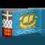 Emoji de bandera de San Pedro y Miquel贸n en Apple, iOS