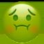nauseated face Emoji on Apple, iOS