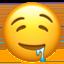 sleepy face Emoji on Apple, iOS