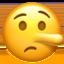 lying face Emoji on Apple, iOS