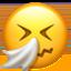 sneezing face Emoji on Apple, iOS