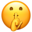 face with hand over mouth Emoji on Apple, iOS