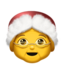 Mrs. Claus Emoji on Apple, iOS