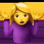 woman shrugging Emoji on Apple, iOS