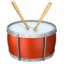 drum Emoji on Apple, iOS
