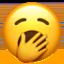 yawning face Emoji on Apple, iOS