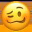 woozy face Emoji on Apple, iOS