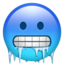 hot face Emoji on Apple, iOS