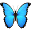 butterfly Emoji on Apple, iOS