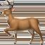 deer Emoji on Apple, iOS