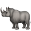 rhinoceros Emoji on Apple, iOS