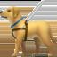 guide dog Emoji on Apple, iOS
