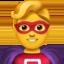 man superhero Emoji on Apple, iOS