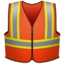 safety vest Emoji on Apple, iOS