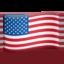 flag: United States Emoji on Apple, iOS