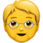 older person Emoji on Apple, iOS